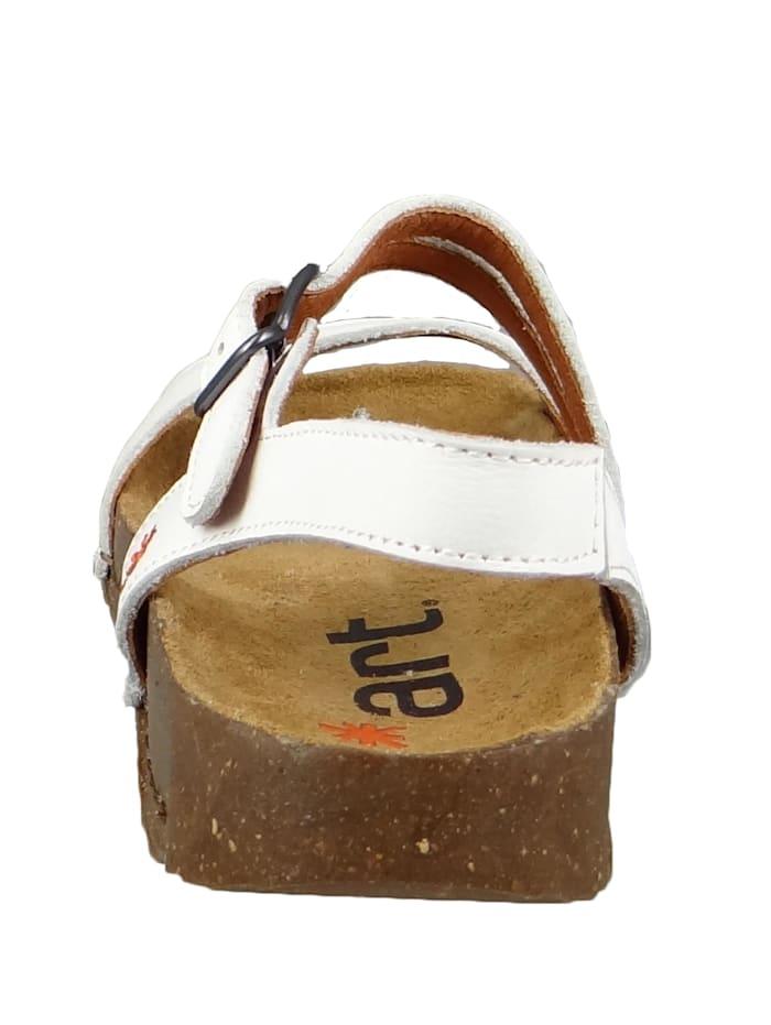 1045 I Breathe Damen Leder Sandale White Weiß