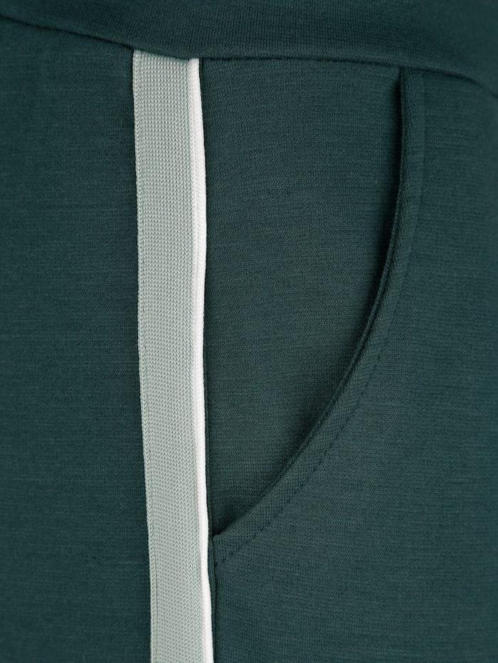 Dress In Hose mit Tapedetail, Tannengrün