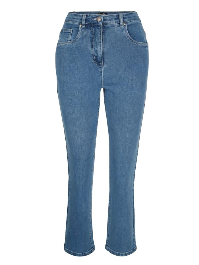 Paola 7/8 Edeljeans in komfortabler Passform, Blue bleached