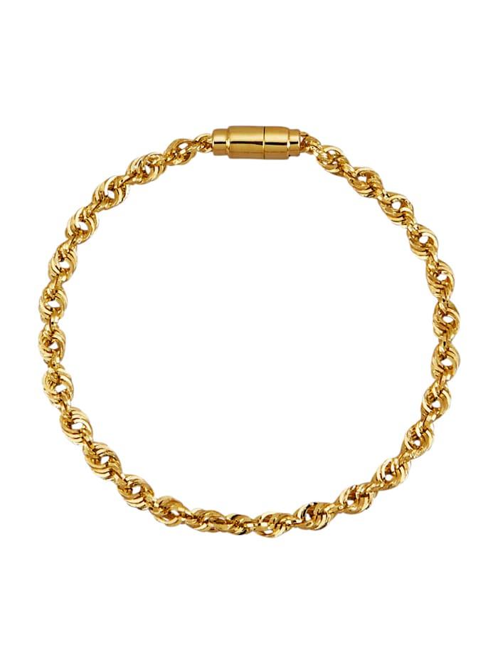 Diemer Gold Kordelarmband in Gelbgold 585, Gelbgoldfarben