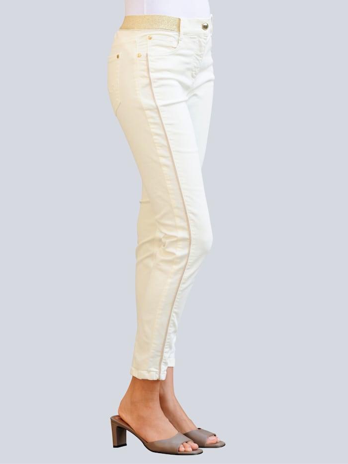 Jeans med glittrig linning