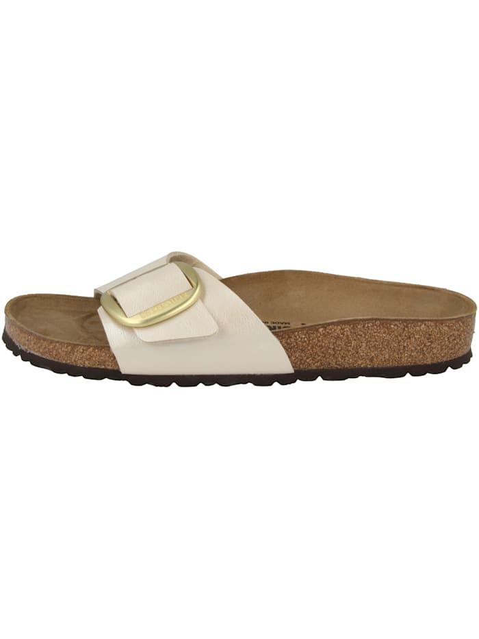 Birkenstock Sandale Madrid Big Buckle Birko-Flor schmal, creme