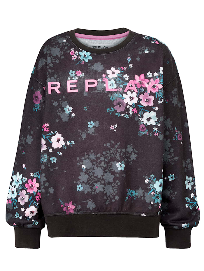 REPLAY Sweatshirt Kids, Schwarz