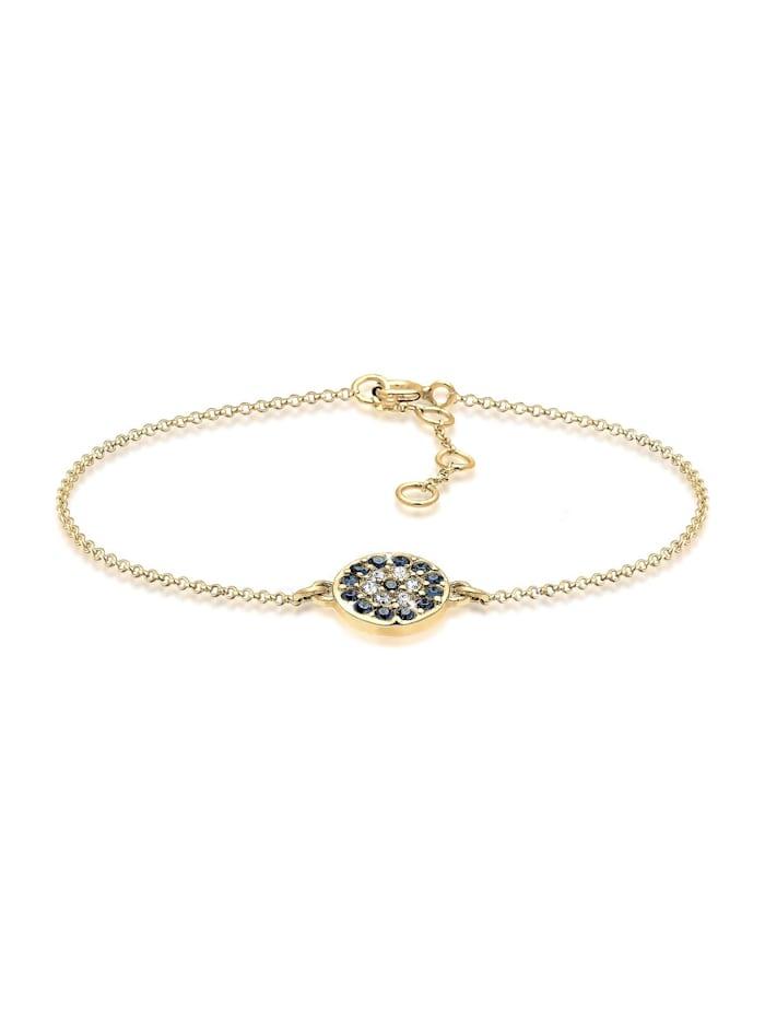Elli Armband Evil Eye Kristalle 925 Sterling Silber, Gold