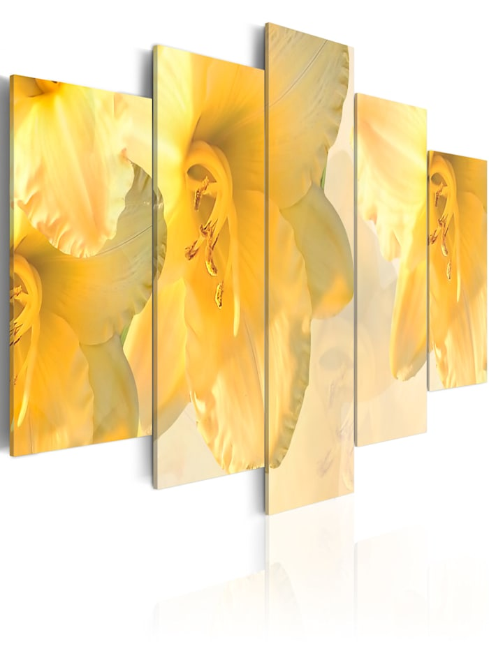 artgeist Wandbild Lilien wie aus einem Traum, Creme,Gelb
