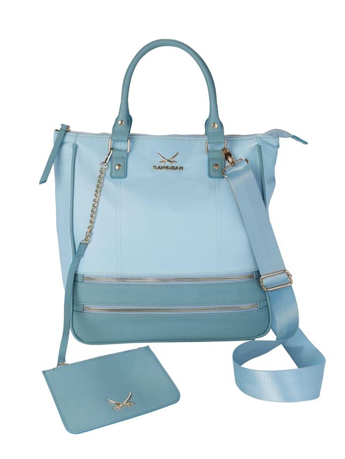 Sansibar Väska med liten, urtagbar väska 2 delar, ljusblå