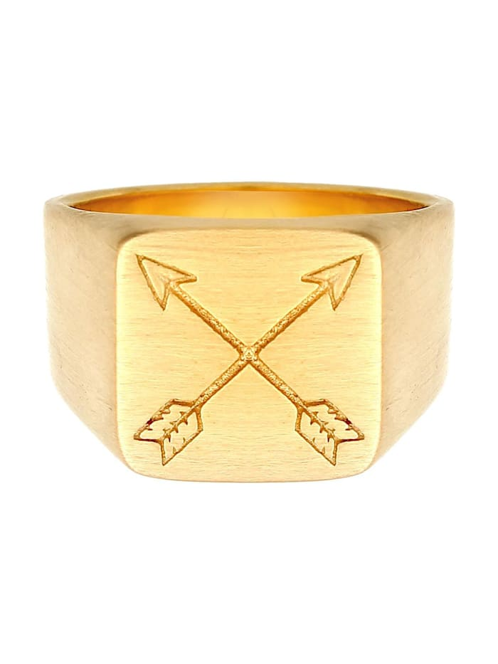 Ring Herren Siegelring Matt Basic Pfeil 925 Silber