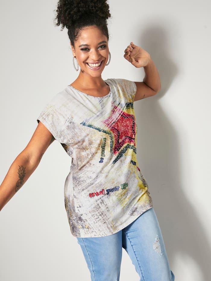 Angel of Style Shirt mit Nieten, Ecru