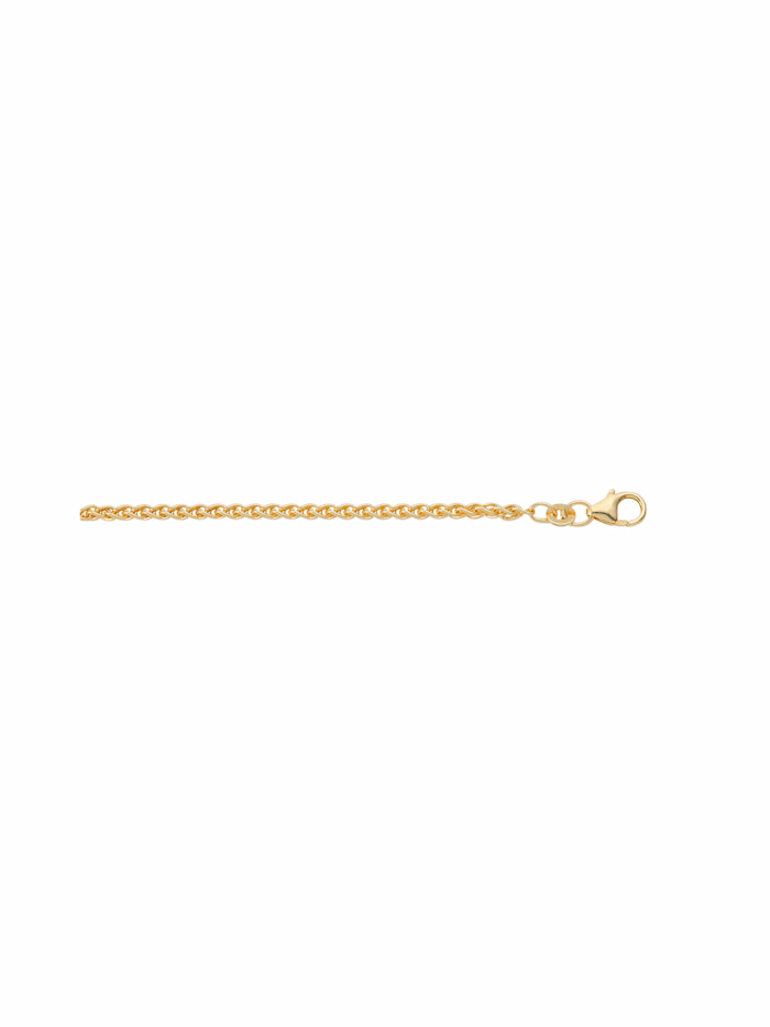 1001 Diamonds Damen Goldschmuck 333 Gold Zopf Halskette, gold