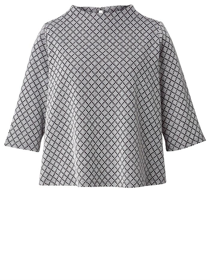 Shirt mit modischem Kelchkragen