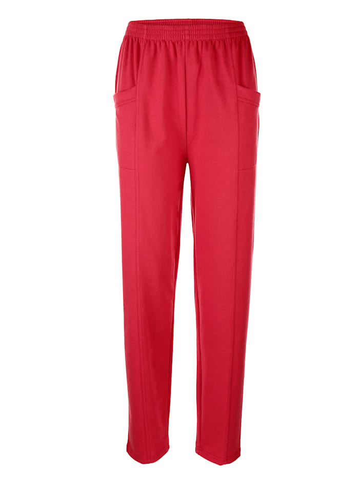 Dress In Hose in bequemer Passform, Rot