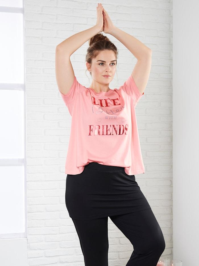 Janet & Joyce Shirt mit Print, Rosé