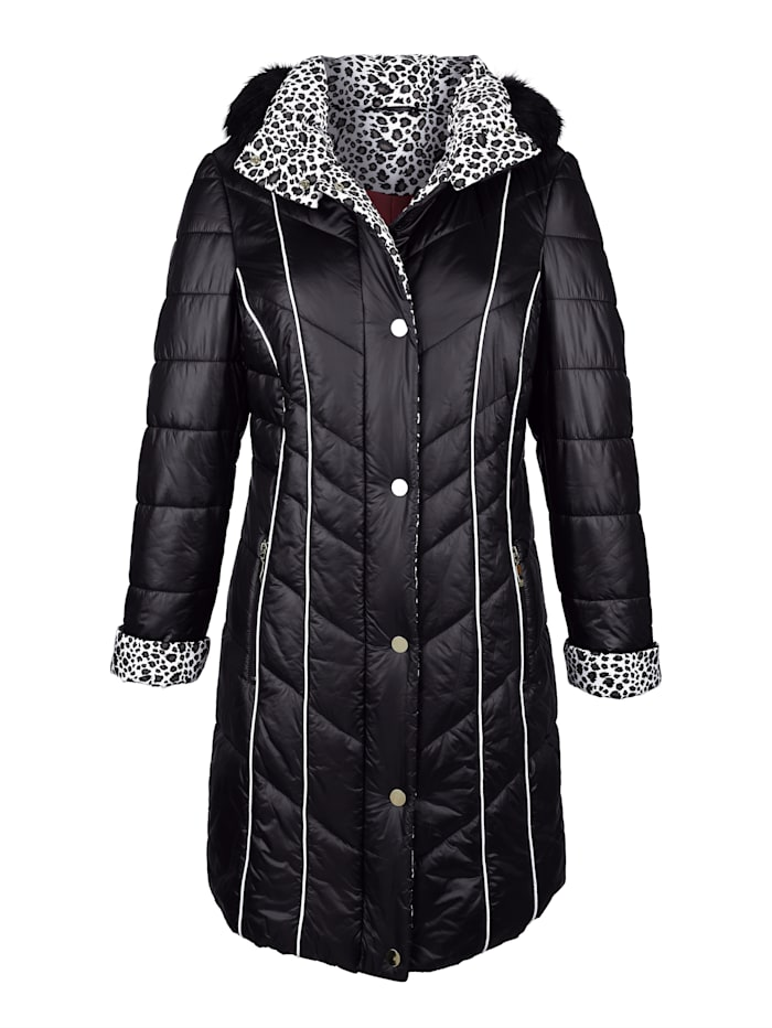 Coat with contrast detailing
