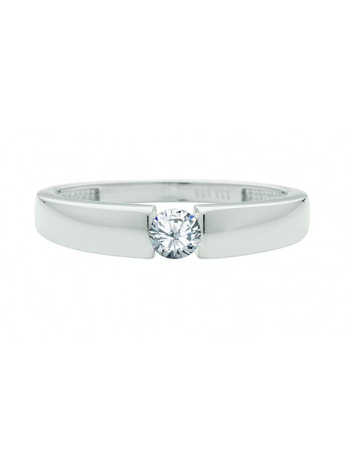 1001 Diamonds 1001 Diamonds Damen Silberschmuck 925 Silber Ring mit Zirkonia, silber