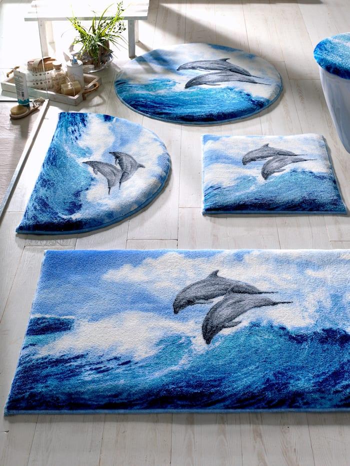 Grund Badrumsserie med delfiner, Blå