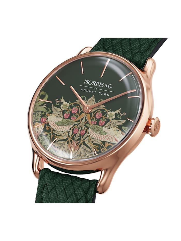 Uhr MORRIS & CO Rose Gold Green Perlon 30mm