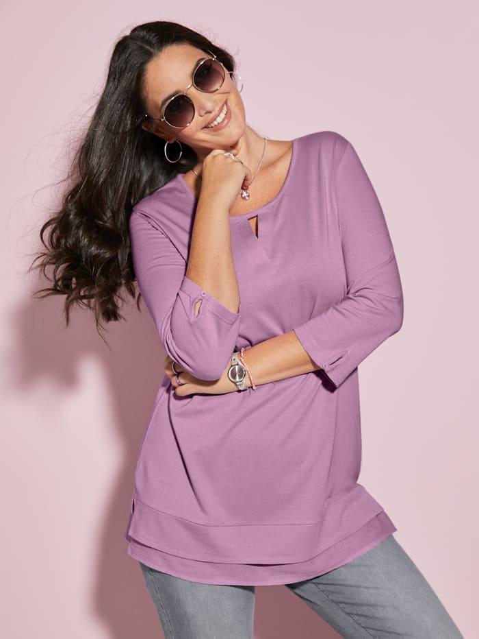 MIAMODA Shirt met kleine uitsparing bij de hals, Roze