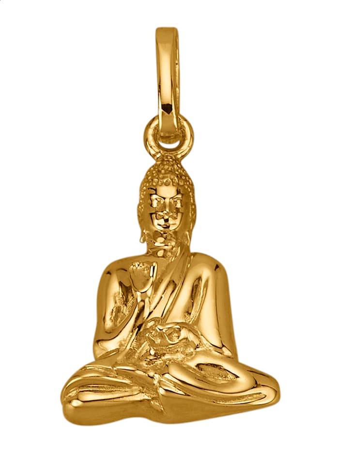 "Amara Or Pendentif ""Bouddha"" en or jaune 585, Coloris or jaune"