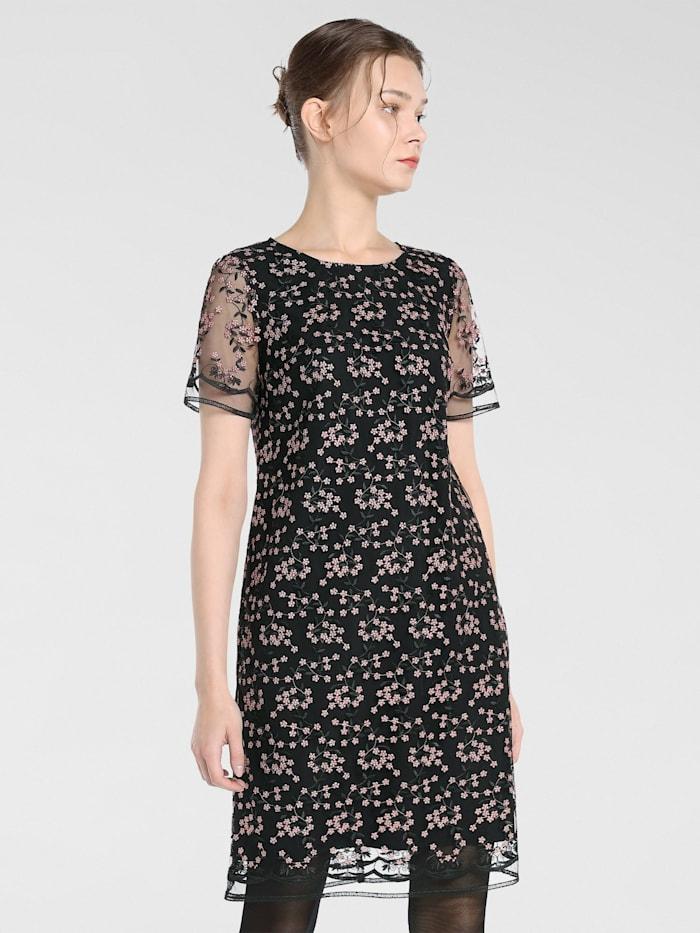 APART Kleid bestickt, schwarz-puder