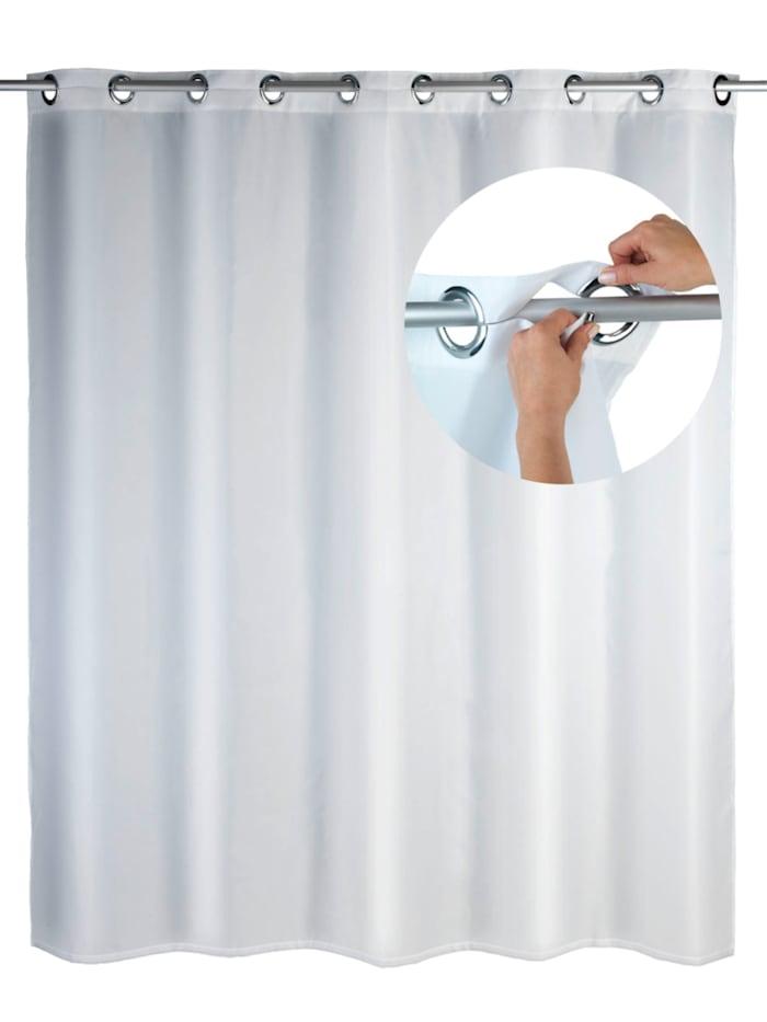 Wenko Duschvorhang Comfort Flex Weiß, Textil (Polyester), 180 x 200 cm, waschbar, Weiß