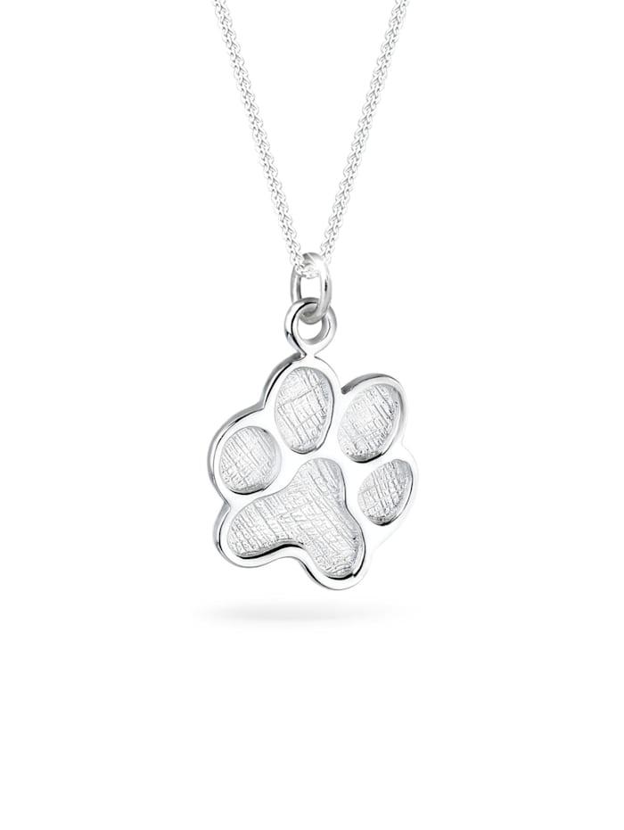 Elli Halskette Pfote Hund Katze Tierfreund 925 Sterling Silber, Silber