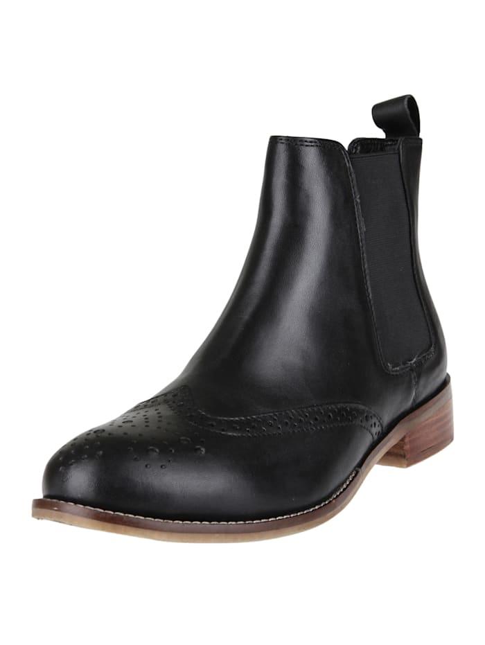 COX Stiefelette Chelsea-Boots, schwarz