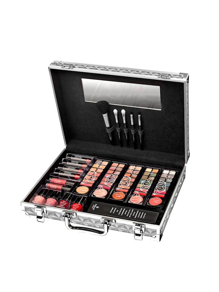Boulevard de Beauté Valisette de maquillage En aluminium, contient tout le nécessaire pour un maquillage parfait, Multicolore