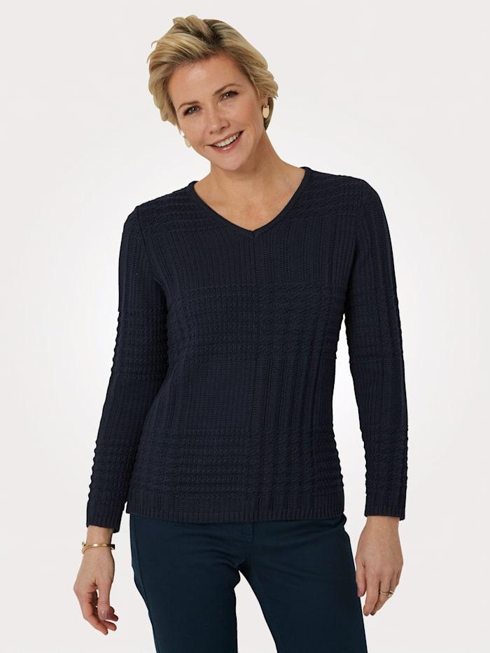 MONA Pullover aus Pima-Baumwolle, Marineblau