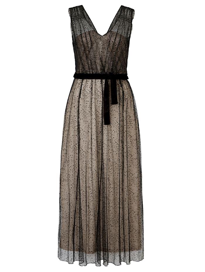 Cream Kleid mit Tüll, Schwarz