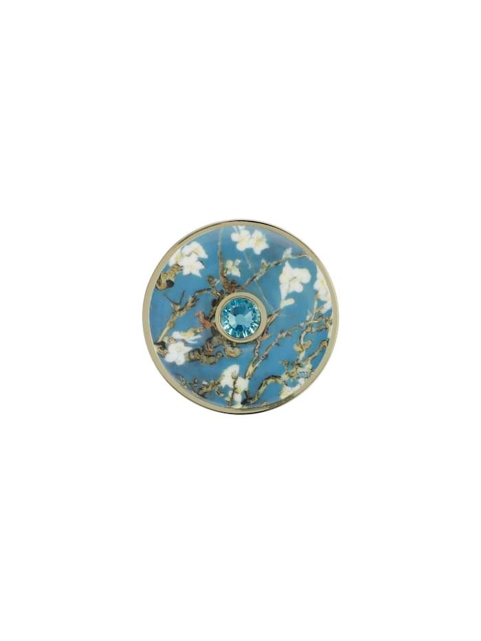 Goebel Goebel Brosche Vincent v. Gogh - Mandelbaum blau, van Gogh - Mandelbaum blau