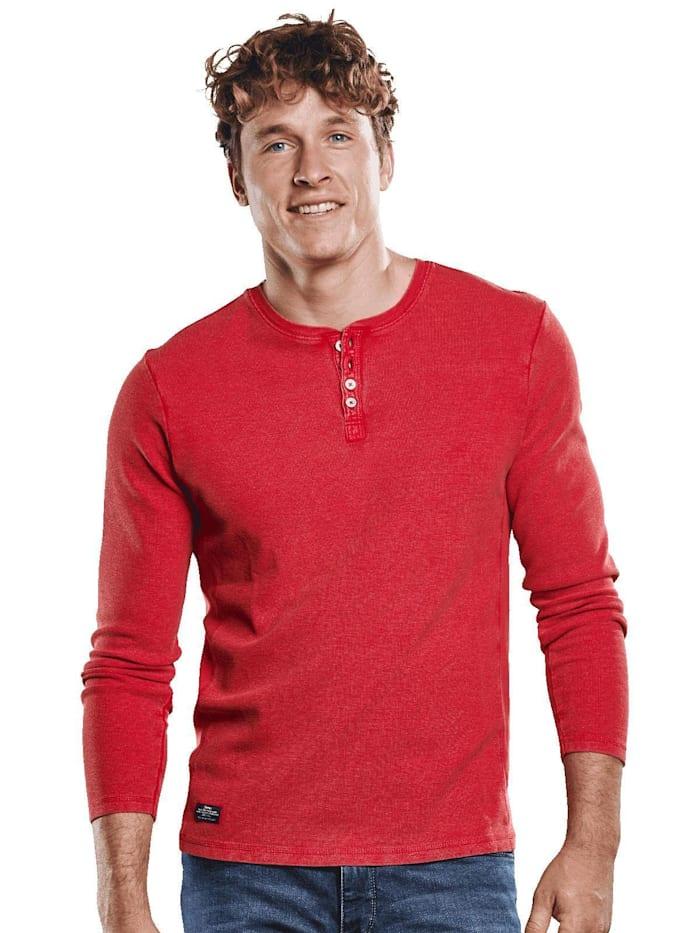 Engbers Auffälliges Henley Shirt, Signalrot