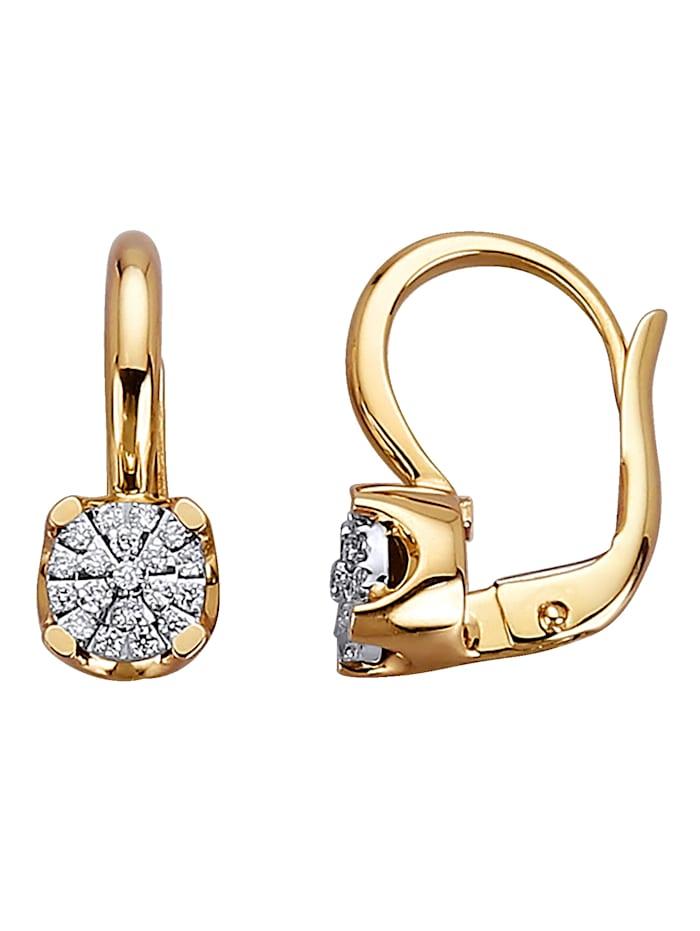Diemer Diamant Ohrringe mit Brillanten mit Brillanten, Multicolor