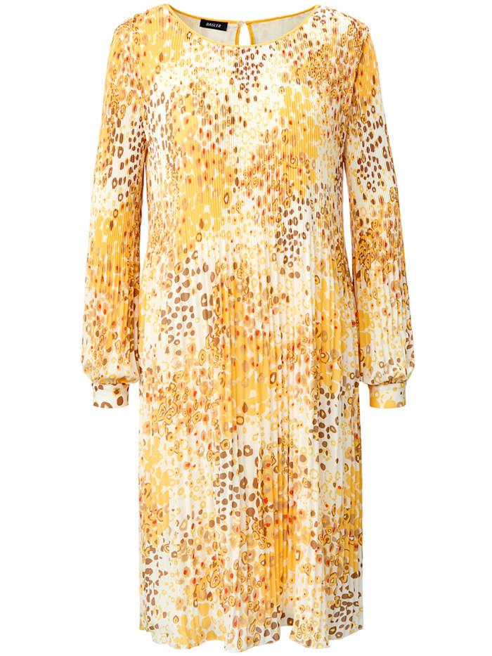 Basler Plissée-Kleid mit Animalprint, offwhite multicolour
