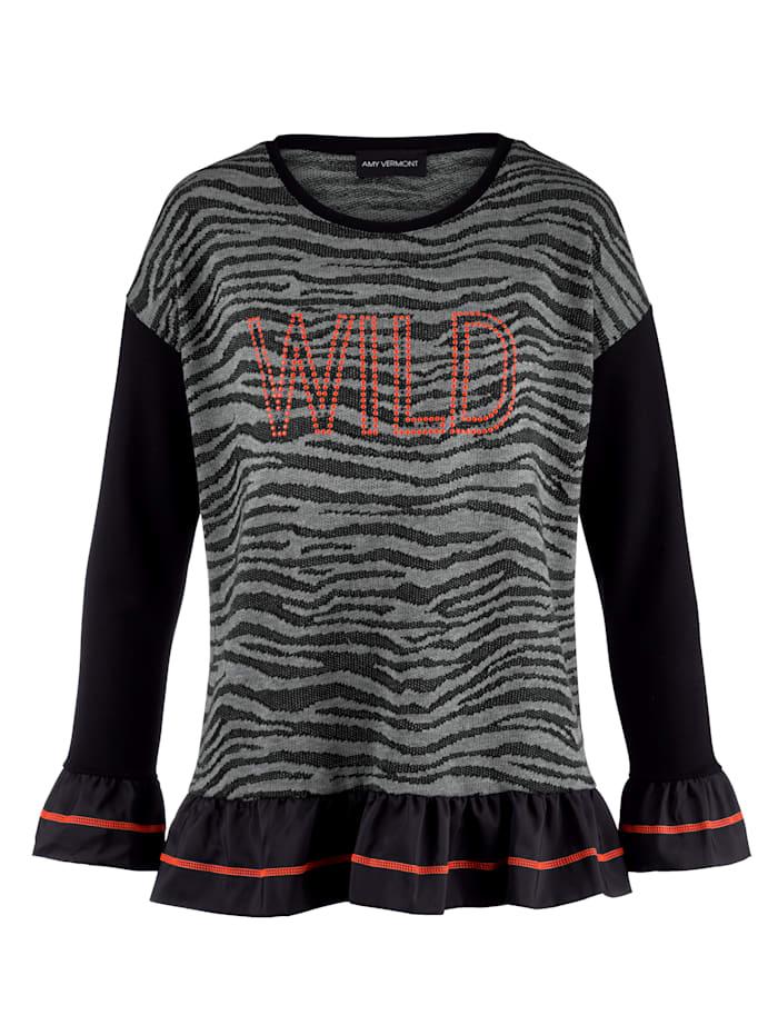 Sweatshirt mit Plättchendekoration im Vorderteil