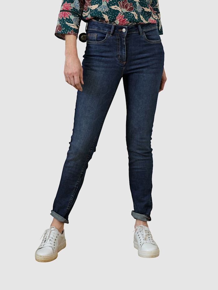 Dress In Jeans med knapper, Dark blue