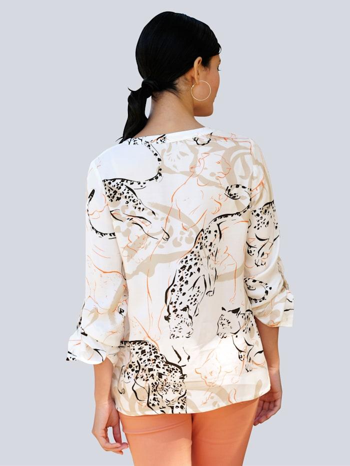 Bluse mit großflächigem Animalprint