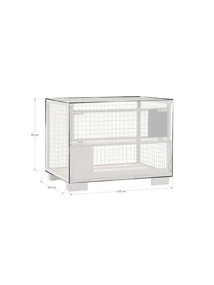 Grasekamp Abdeckhaube Gitterbox 125 x 85 x 95 cm  PVC Transparent wasserdicht UV stabil  Schutzhaube, Transparent
