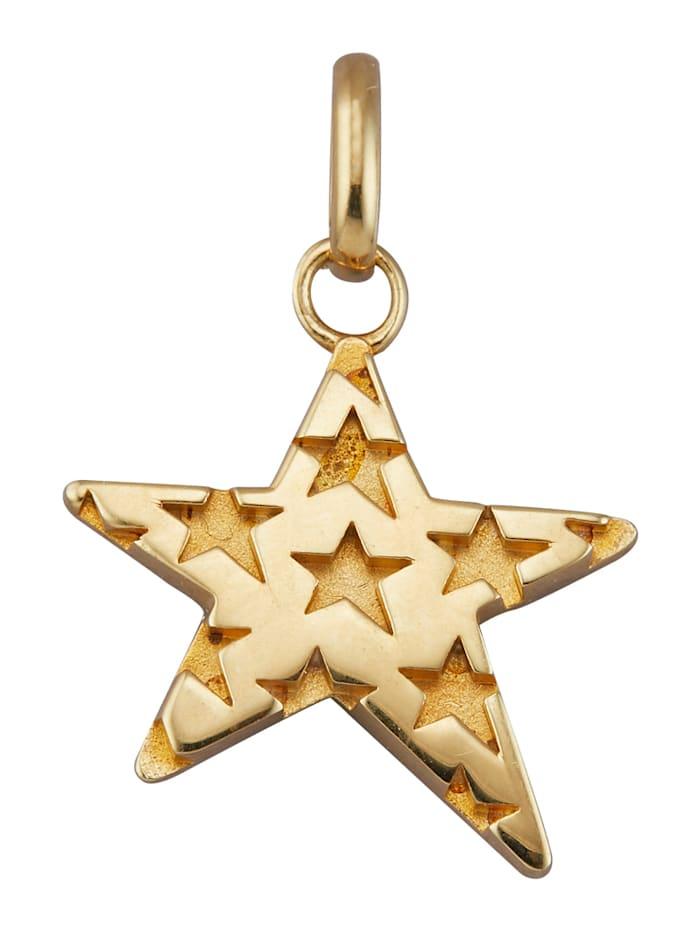 Diemer Gold Stern-Anhänger in Gelbgold, Gelbgoldfarben