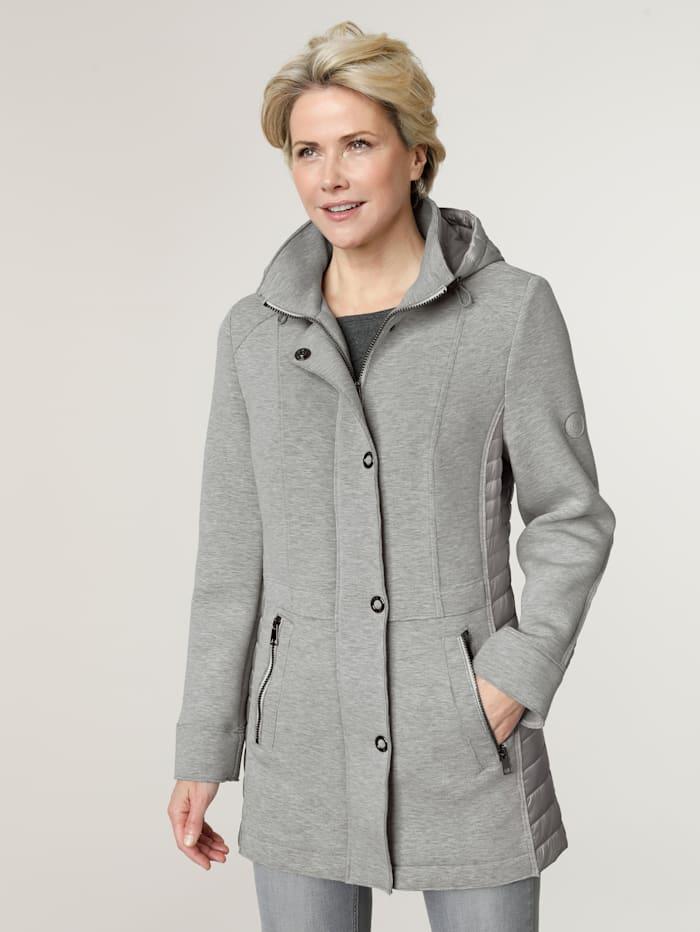 Barbara Lebek Longline jacket with a detachable hood, Light Grey