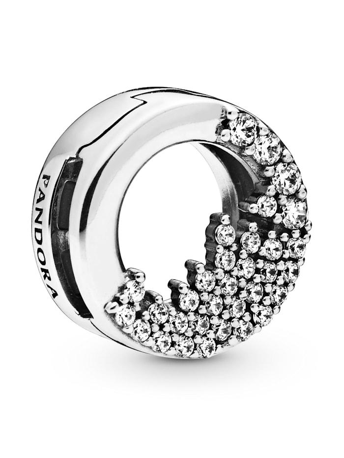 Pandora Clip-Charm -Funkelnde Eiszapfen - Pandora Reflexions - 798475C01, Silberfarben