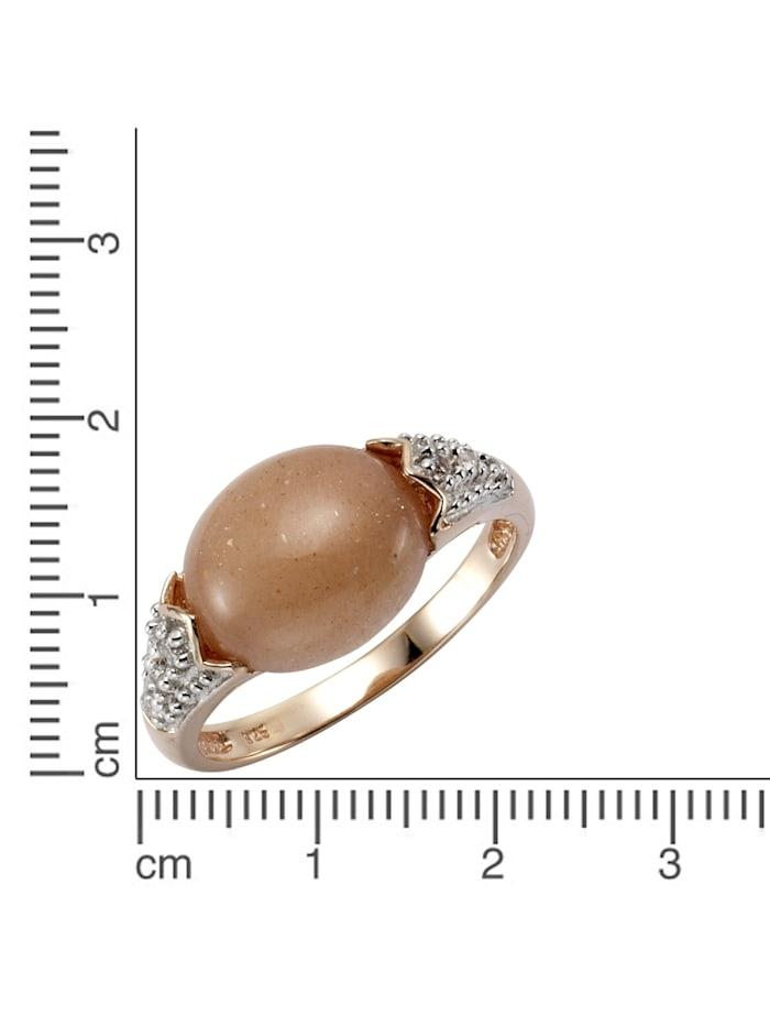 Ring 925/- Sterling Silber Mondstein pfirsich Glänzend 925/- Sterling Silber