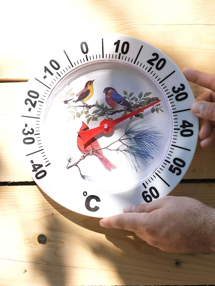 Buitenthermometer, wit