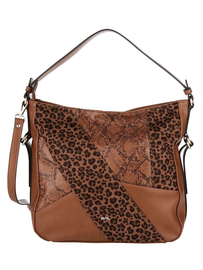 Ara Shopper in elegantem Animal-Print, cognac/leo/schlang