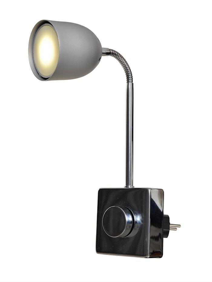Näve LED Steckerspot 'Inga', Silbergrau
