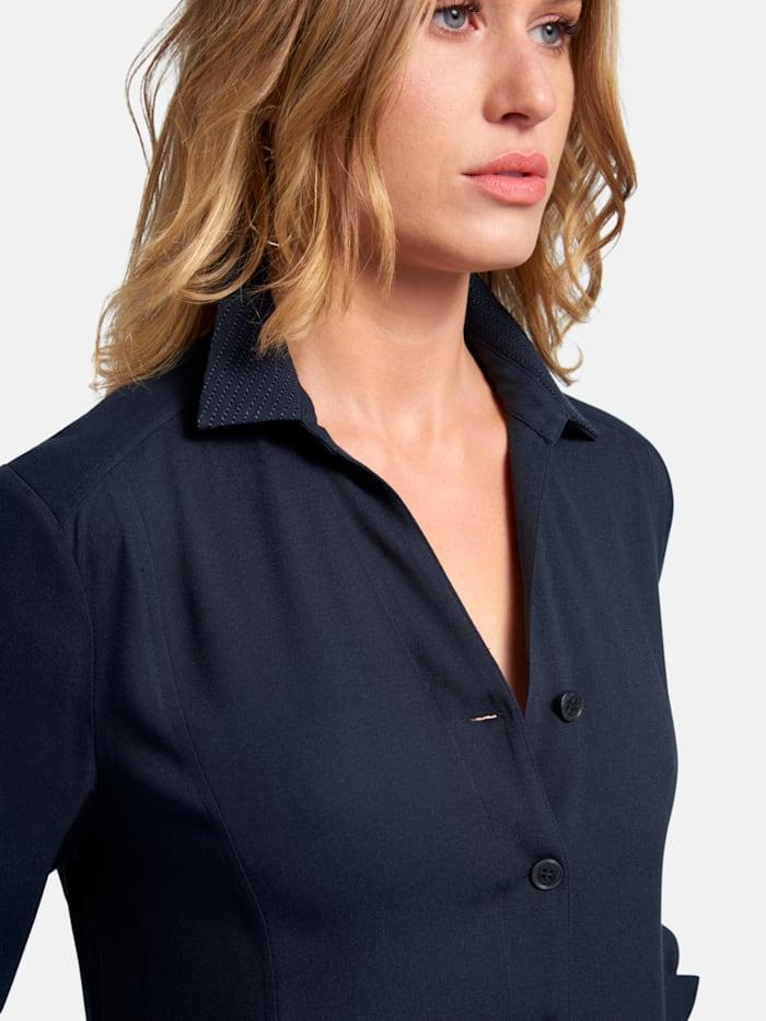 Shirt-Kleid im unifarbigen Design mit Knopfleiste