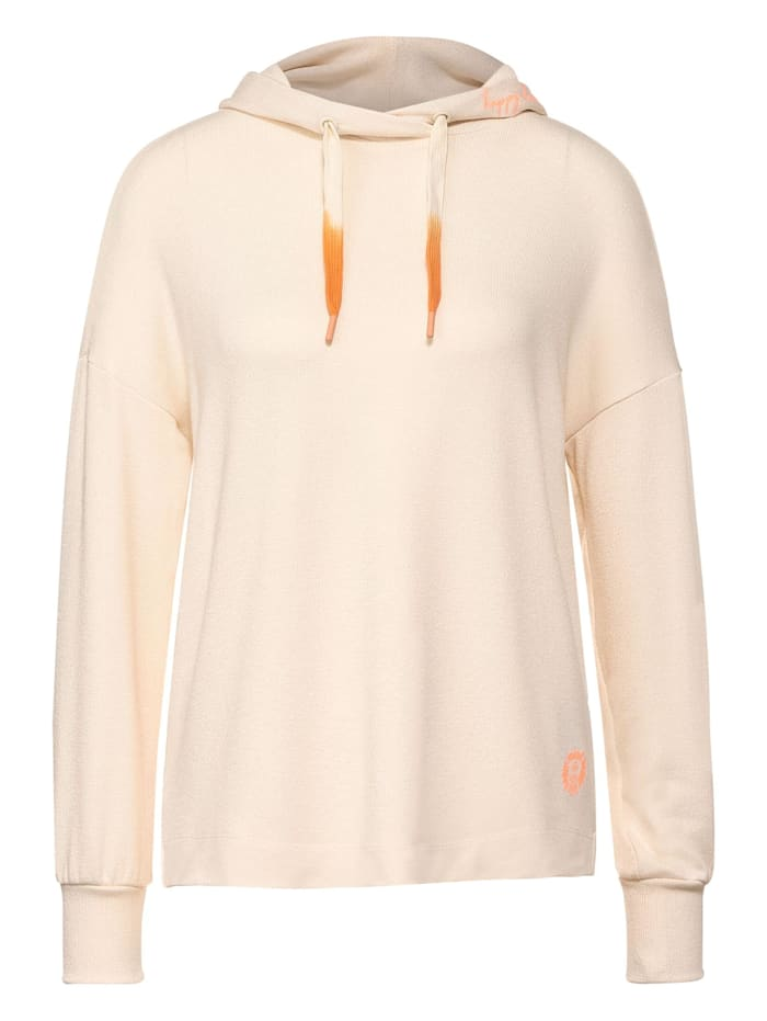 Street One Softes Hoodie-Shirt, bright sand melange