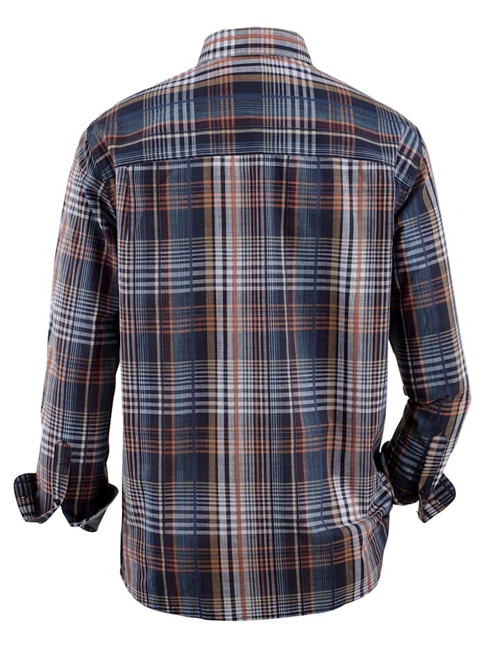 Chemise à motif tissé-teint
