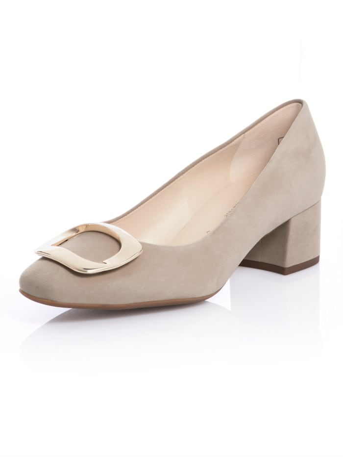 Peter Kaiser Pumps in Karree-Form, Sand