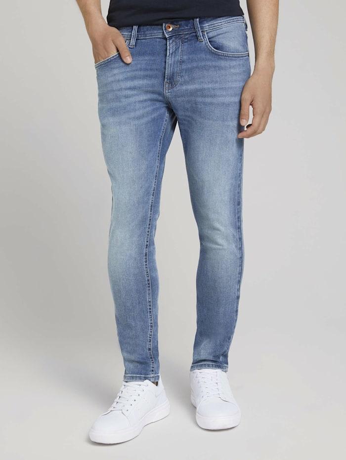 Tom Tailor Denim Skinny Culver Jeans, Used Light Stone Blue Denim
