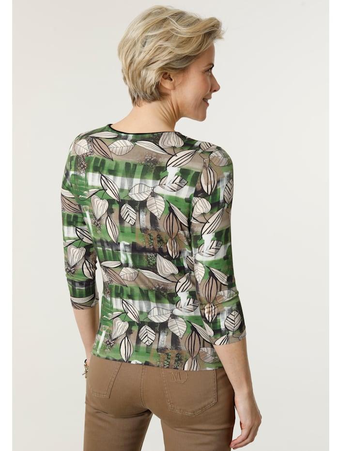 T-shirt à mélange de motifs